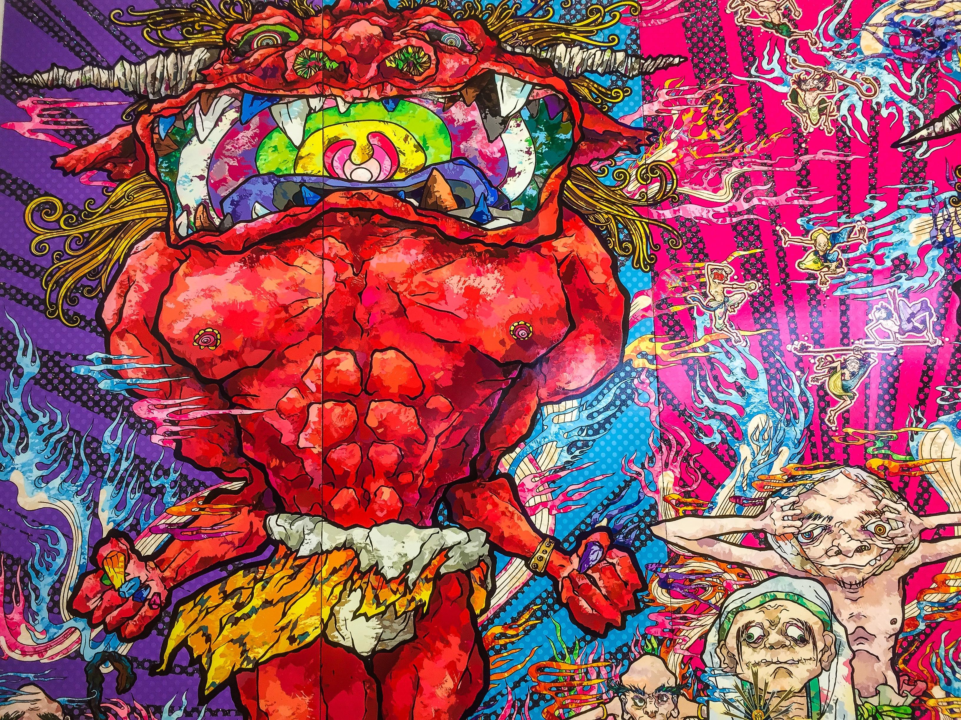 Red-demon-in-murakami-painting