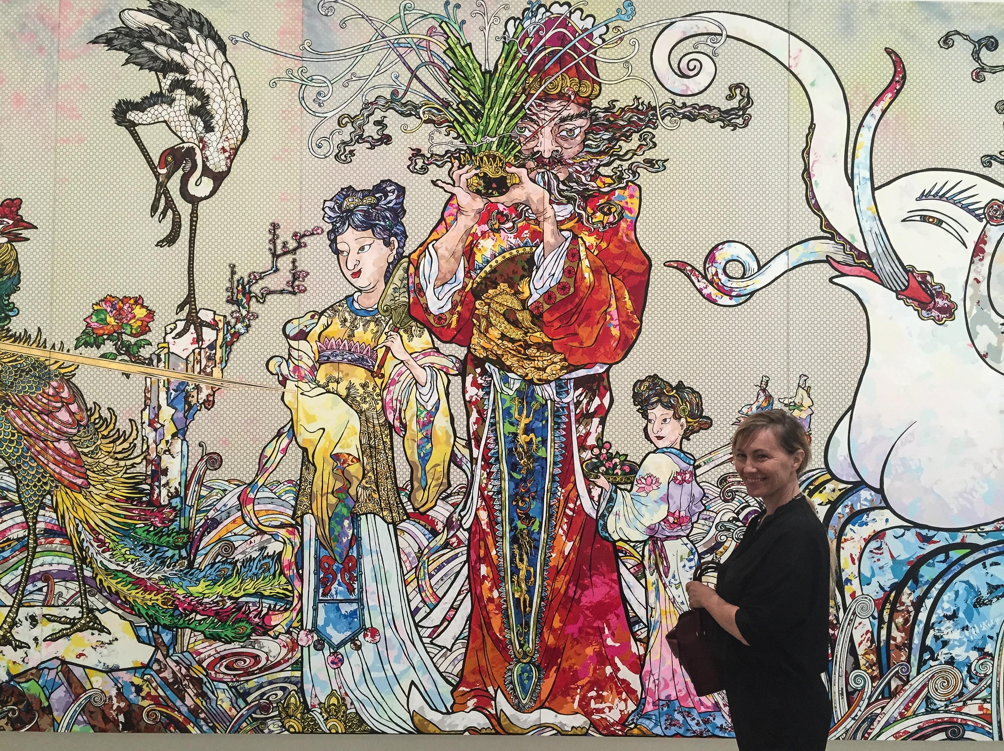 murakami-painting-at-the-broad-los-angeles