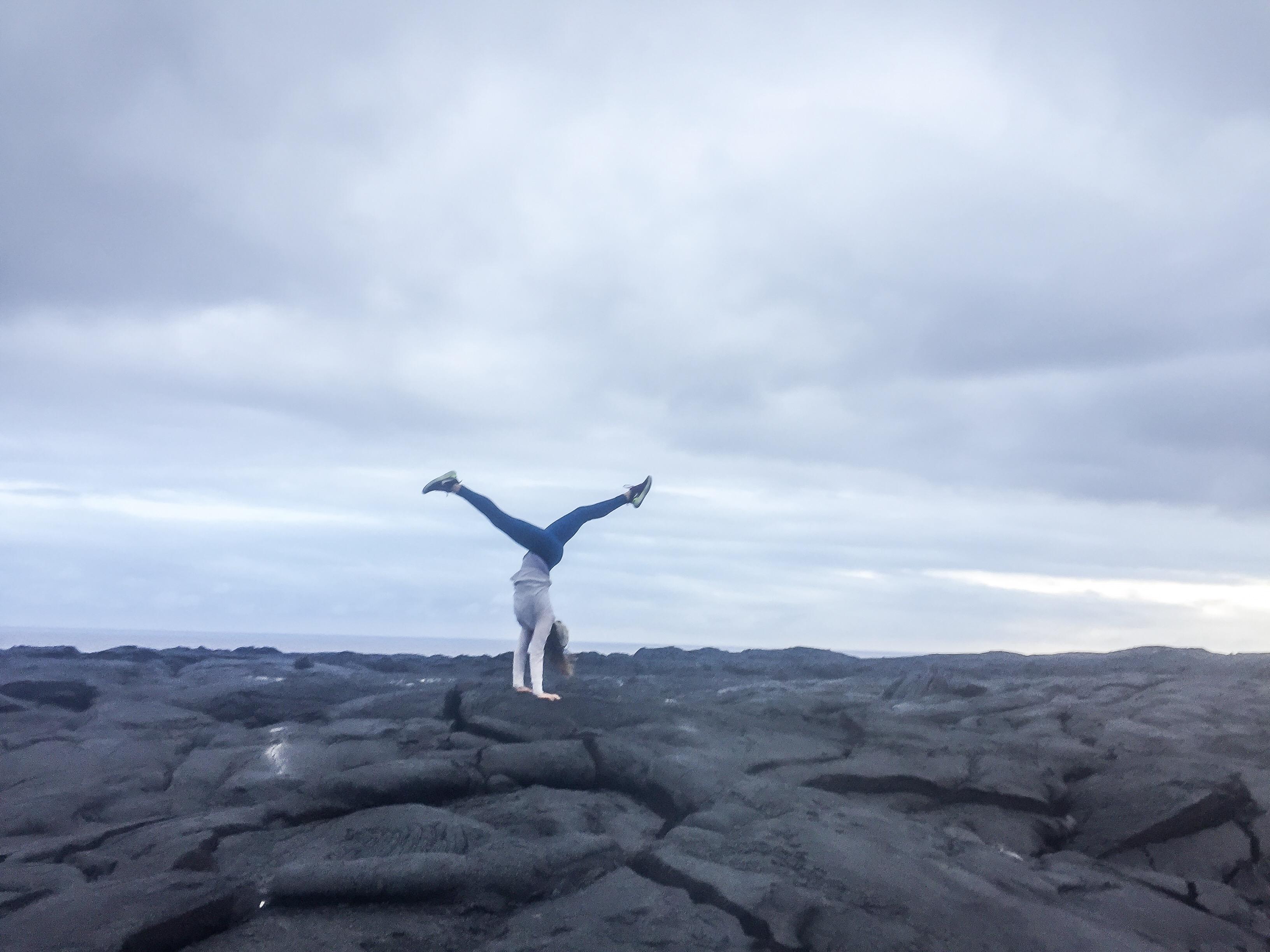 yoga beach-lava-hawaii